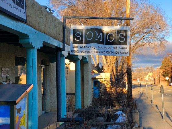 SOMOS sign in Taos, New Mexico